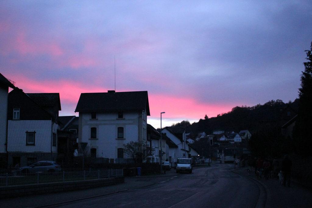 Sonnenuntergang über Oberscheld